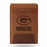 Green Bay Packers Sparo Leather Front Pocket Wallet - No Size