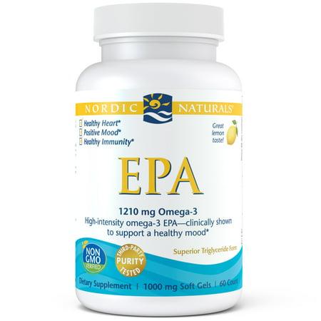 Epa 18 Fish Oil - Nordic Naturals EPA Softgels, 1210 MG, 60 ct