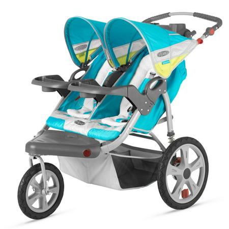 InStep Grand Safari Swivel Wheel Double Jogging Stroller ...