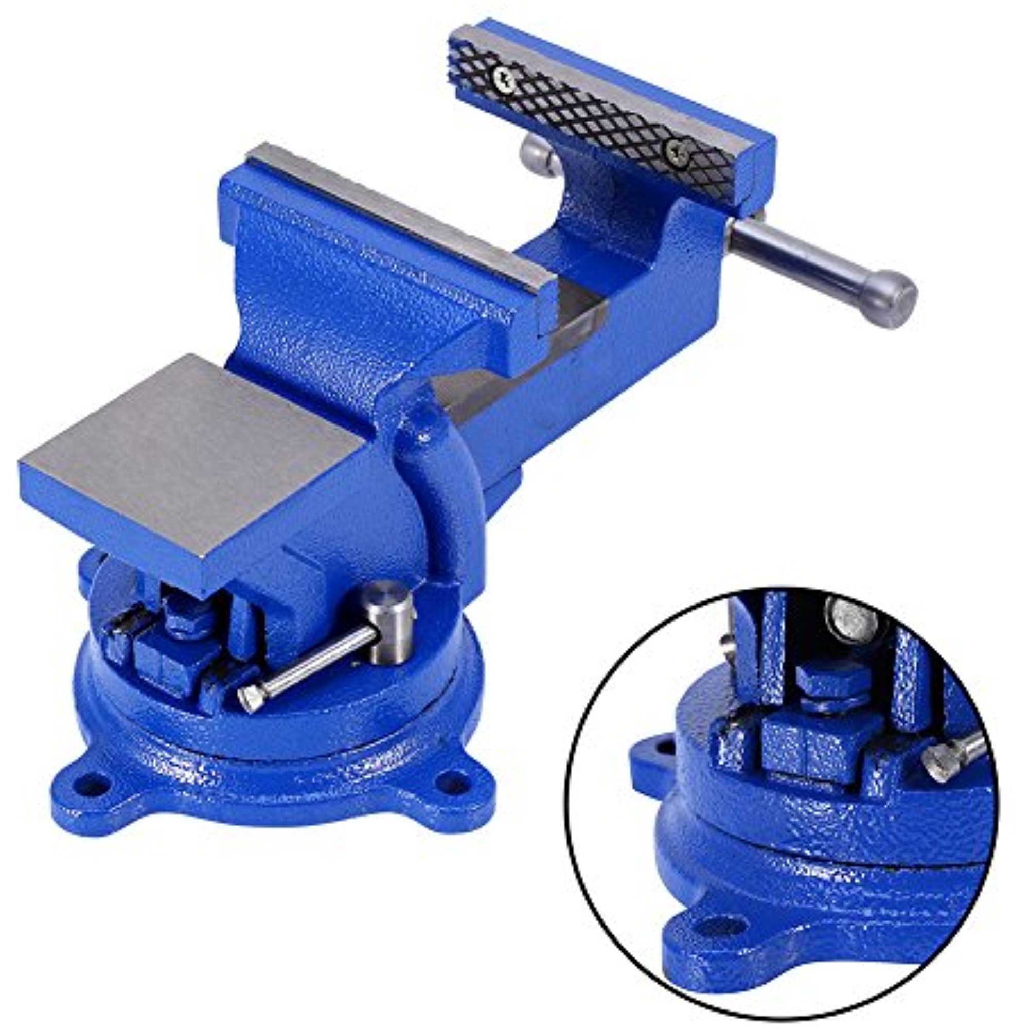 """Bench Vise Clamp,4"""" 100mm Mechanic Work Shop Table Top Clamp Press Locking Swivel Base Cast Iron Tool by"""