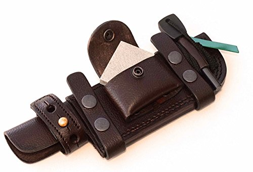CFK Cutlery Company USA Handcrafted LEFT-HAND Scout Custom Handmade Premium Brown Leather Tactical   Tracker Replacement... by CFK Cutlery Company
