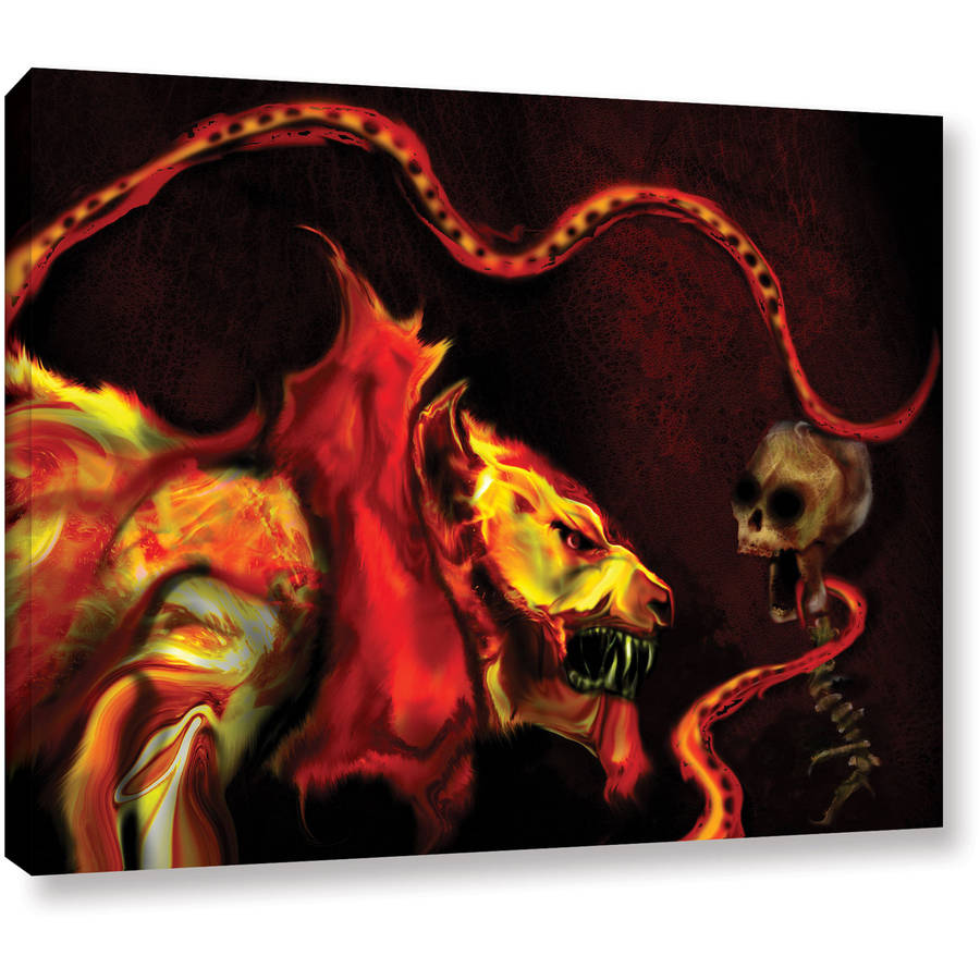 "ArtWall Pyro Painter ""Shadow of the Beast"" Wrapped Canvas"