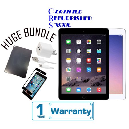 Apple iPad Air 2 16GB,32GB,64GB,128GB - Wifi + 4G Unlocked -(Certified Open Box) with 1-Year Warranty | Bundle includes iPad Case & Tempered