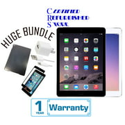 Apple iPad Air 2 16GB,32GB,64GB,128GB - Wifi + 4G Unlocked -(Certified Open Box) with 1-Year Warranty | Bundle includes iPad Case & Tempered Glass