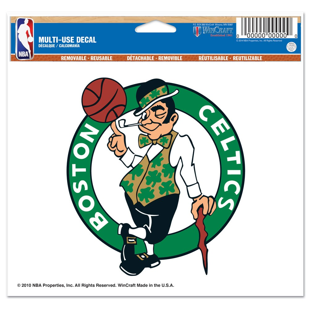 Boston Celtics Official NBA 4 inch x 6 inch  Car Window Cling Decal by WinCraft