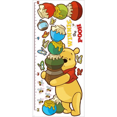 Disney - Peel & Stick Growth Chart, Winnie the - Disney Size Chart