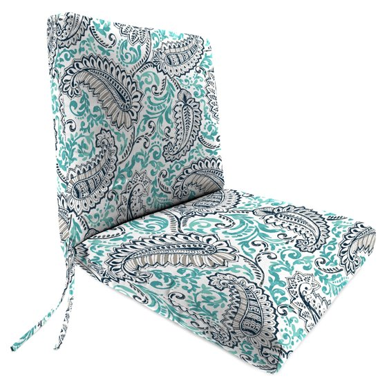 Jordan manufacturing 40 in hinged outdoor shannon chair cushion - Hinged outdoor cushions ...