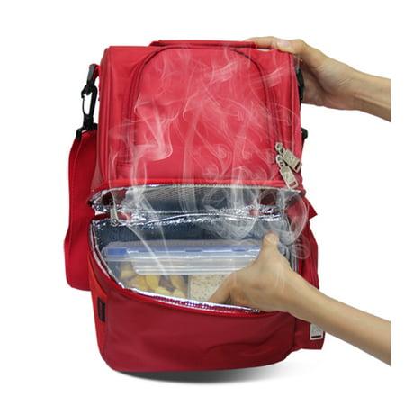12L USB Heating Insulated Lunch Bag Thermal Travel Cooler Bag Food Beverage Carrier Bag - image 5 de 7
