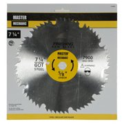 Master Mechanic 155408 Steel Combo Circular Saw Blade, 60 Teeth, 7-1/4-In. - Quantity 1