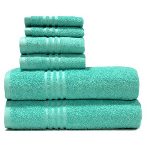 Mainstays True Colors 6-Piece Towel Set, Spearmint