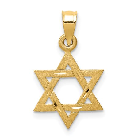 14k Yellow Gold Solid Jewish Jewelry Star Of David Pendant Charm Necklace Religious Judaica Gifts For Women For