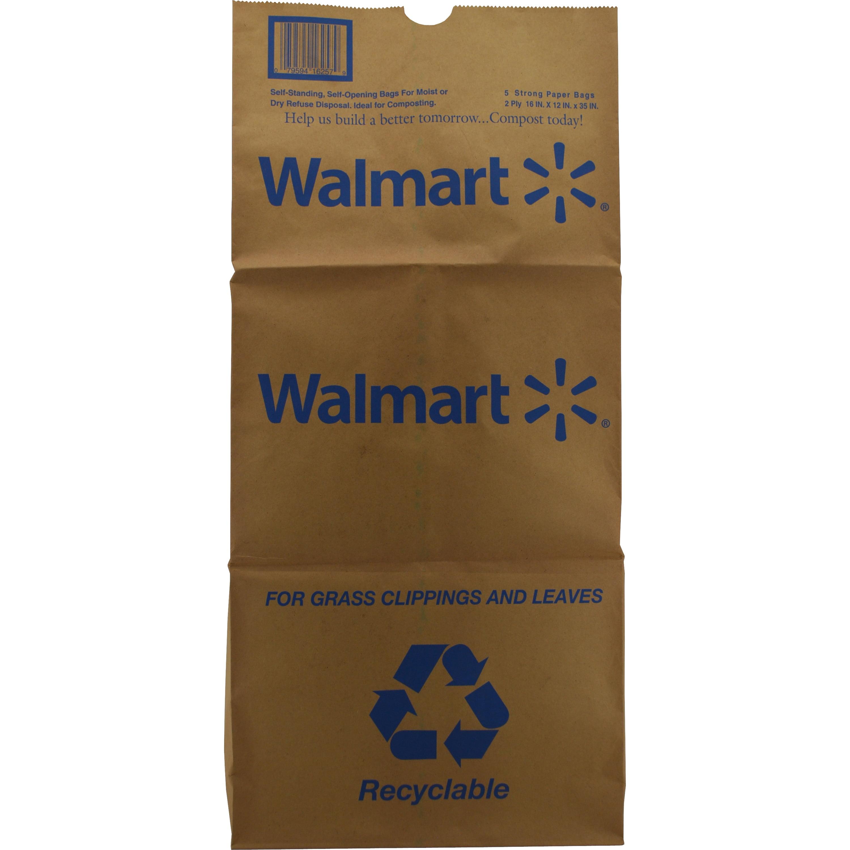 Paper Lawn Bag, 5ct - Walmart.com