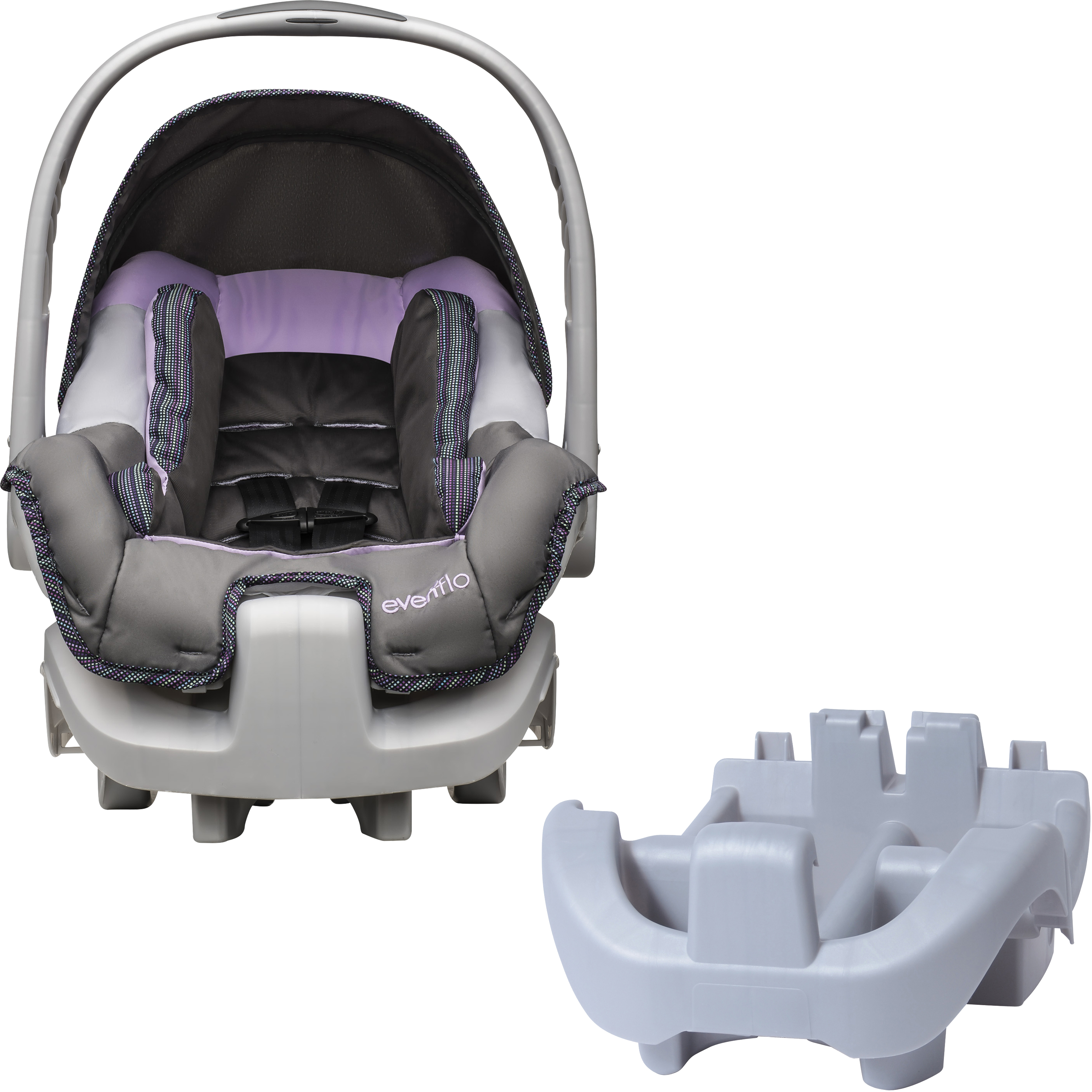 Evenflo Nurture DLX Infant Car Seat, Kiri, with BONUS Nurture Car Seat Base