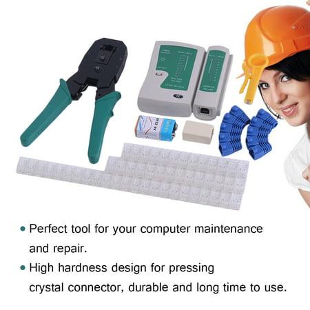 Professional 7Pcs Set Computer Network Repair Tool Kit Computer Maintenance Repair Wire Cutter Tester Plier Sets