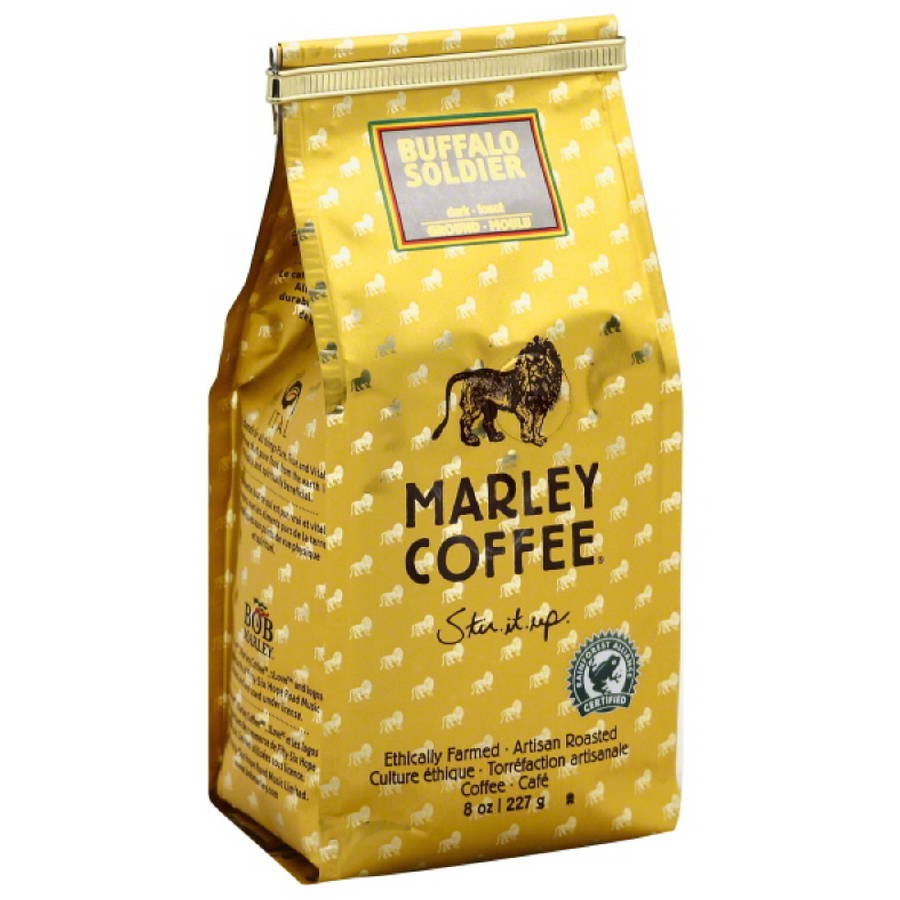 Marley Coffee Buffalo Soldier Ground Coffee, 8 oz, (Pack of 8)