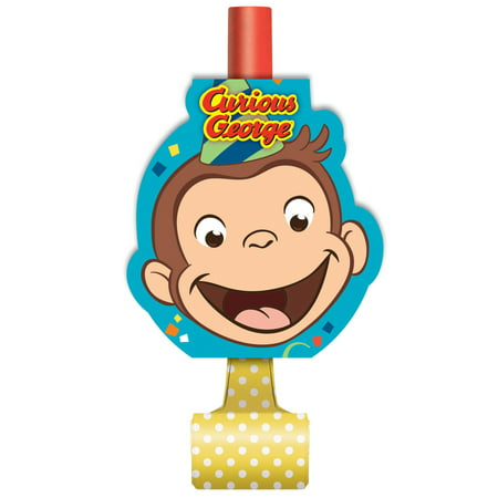 Curious George Party Blowers, 8ct](Curious George Party Theme)