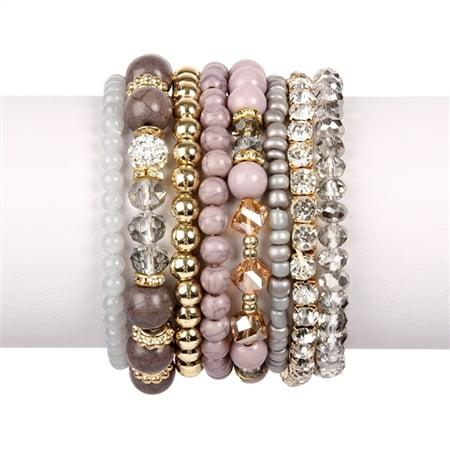 Swarovski Blue Bracelets - RIAH FASHION Glam Multi Bead Bracelet