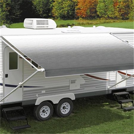 Carefree C6F-JU186D00 Replacement RV Awning Fabric - Silver Fade