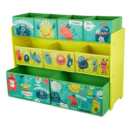 Children's Monsters Deluxe Multi-Bin Organizer with Storage Bins](Storage Organizer With Bins)