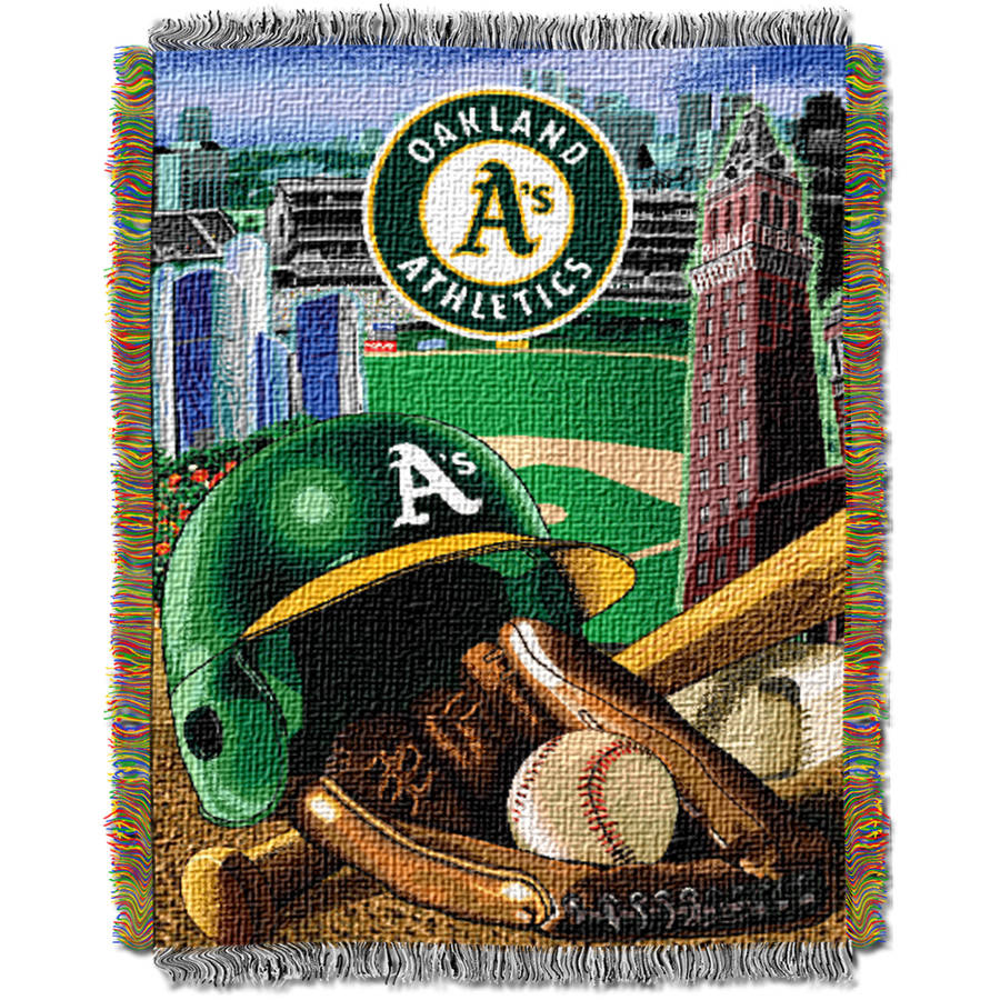 "MLB 48"" x 60"" Home Field Advantage Series Tapestry Throw, Athletics"