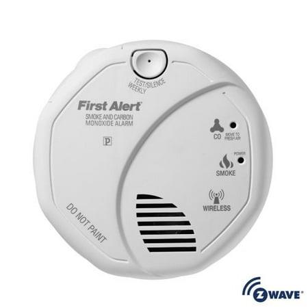 First Alert Audible Carbon Monoxide Detector - First Alert 2-in-1 Z-Wave Smoke Detector & Carbon Monoxide Alarm