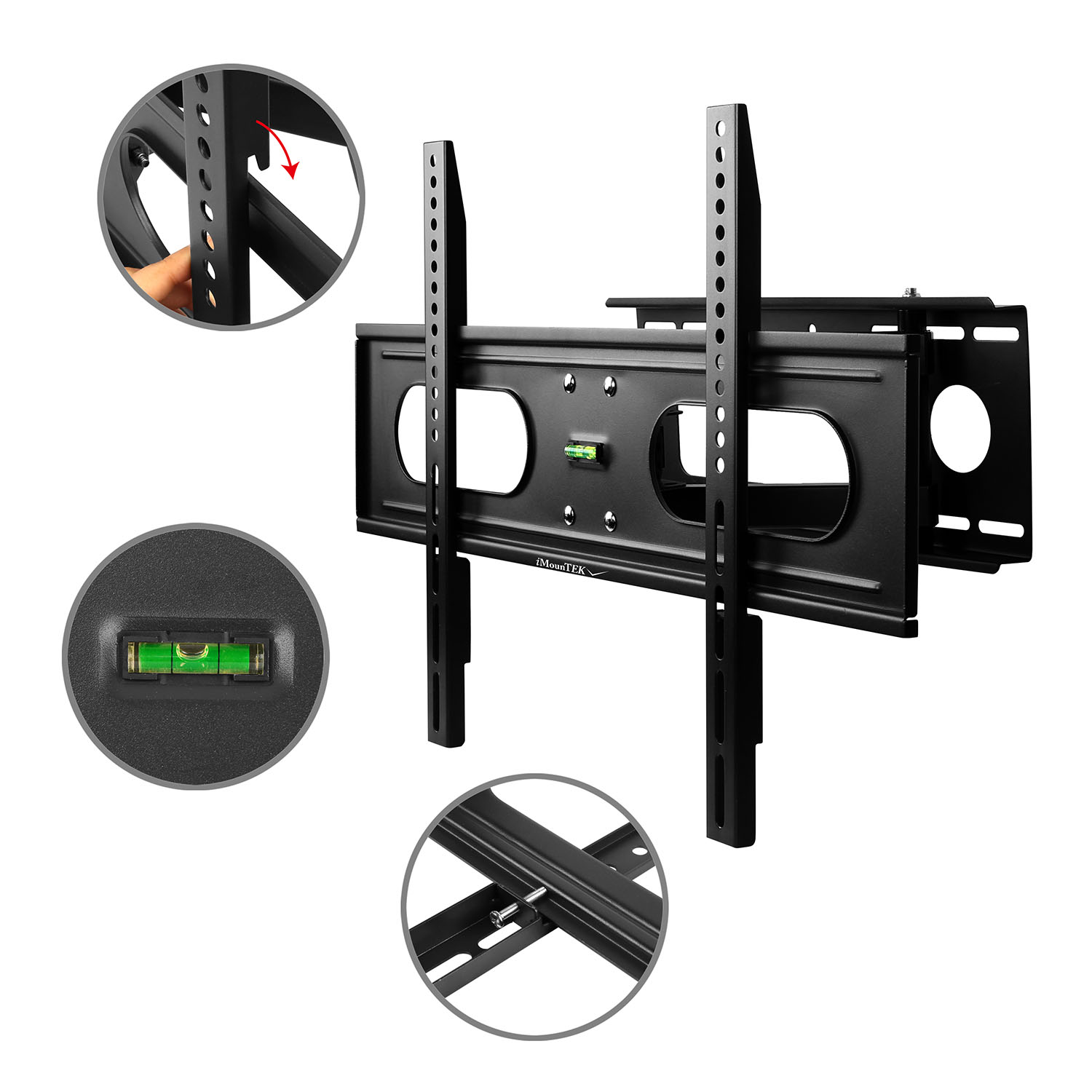 "iMounTEK Tilting TV Wall Mount Bracket For 37"" TO 70"" LED/LCD/OLED/Plasma Flat Screen TV. Full Motion Swivel Articulating Dual Arms, 99 LBS Hold- Sony/LG/Samsung/Panasonic/Vizio/Toshiba"