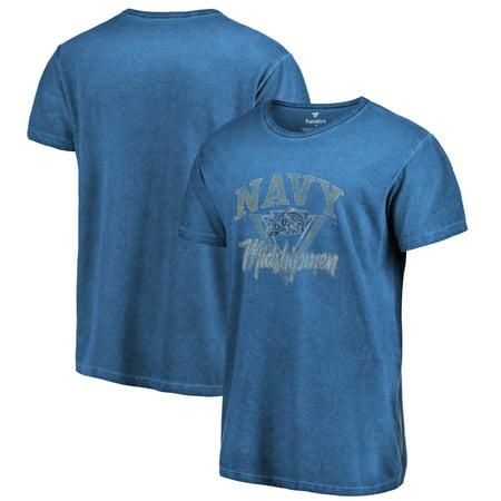 Navy Midshipmen Fanatics Branded Retro Washed Arch T-Shirt - Navy