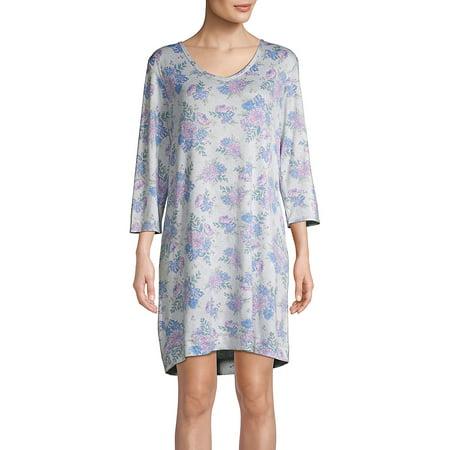 Floral V-Neck Sleepshirt