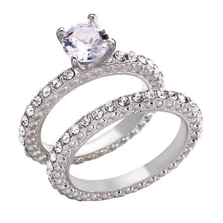 Dogtown Rat Ring - 3.2ct Princess Channel Engagement Ring Wedding Band Solid 14k White Gold