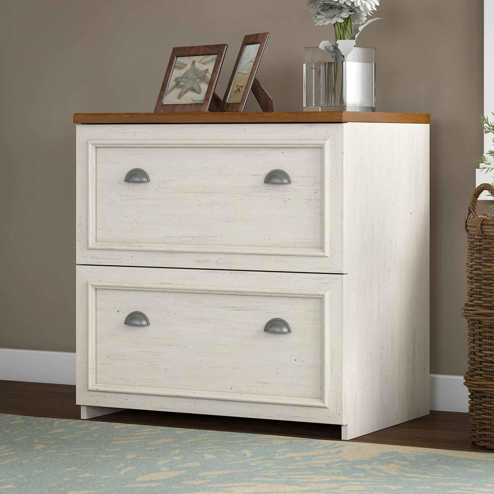 Exceptionnel Bush Fairview Lateral File   Antique White