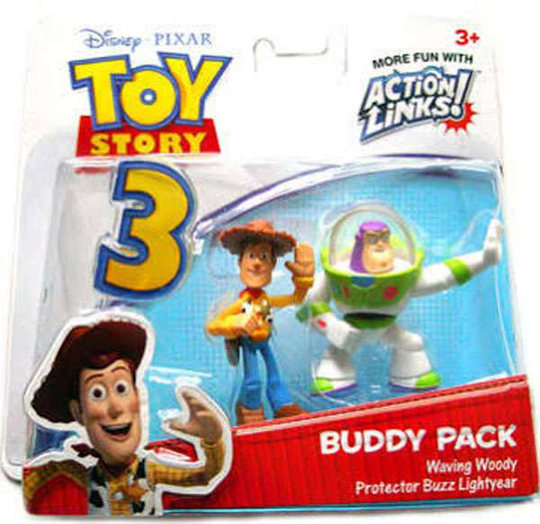 Toy Story 3 Buddy Pack Waving Woody & Protector Buzz Lightyear Mini Figure 2-Pack (Buzz Lightyear And Woody Halloween Costumes)