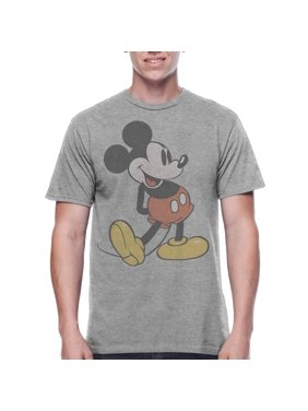 02b9f0ad Product Image Mickey Mouse Men's Vintage Character Shot Short Sleeve  Graphic T-Shirt, up to Size