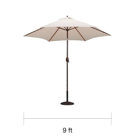 - TropiLight - 9' LED Light Market Umbrella, Bronze - Walmart.com