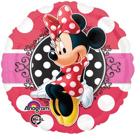 Minnie Mouse Portrait Red Theme Foil / Mylar Balloon 18