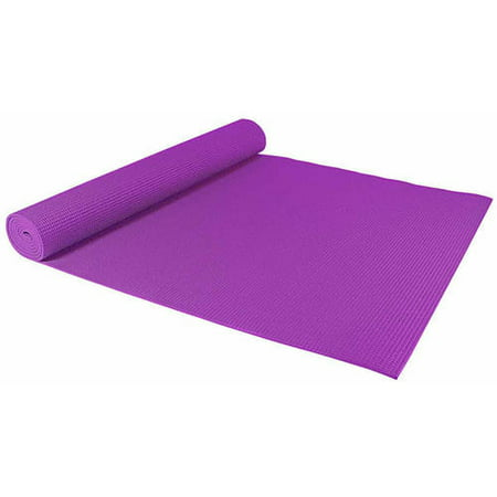 Sivan Health and Fitness Yoga and Pilates Mat with Non-Skid Ridges, Purple