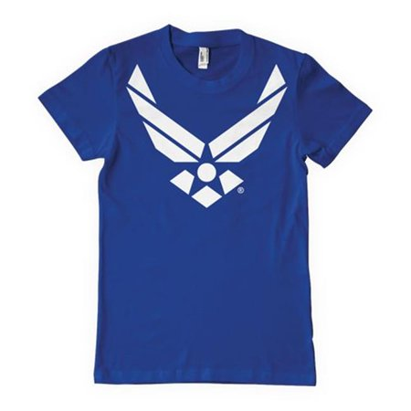 Fox Outdoor 63-533 M Air Force Emblem & Royal Blue One-Sided Imprinted T-Shirt,