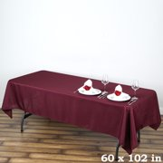 """Efavormart 60x102"""" Polyester Rectangle Tablecloths for Kitchen Dining Catering Wedding Birthday Party Decorations Events"""