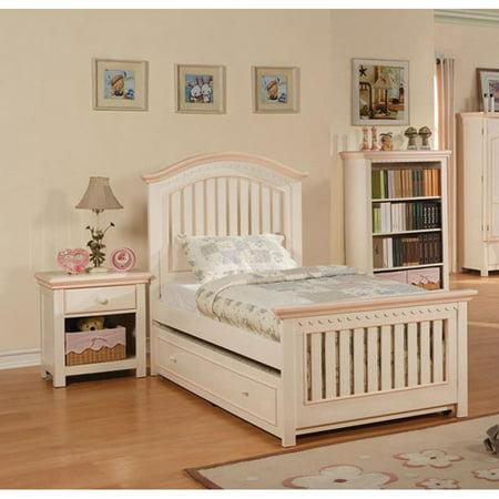 Acme Furniture Crowley Nightstand, Cream/Peach