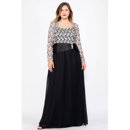 The Dress Outlet - Long Mother of the Bride Dress Plus Size Formal ...