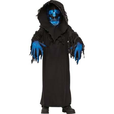 Sugar Skull Halloween Costume Male (Boys Skull Phantom Ghoul Halloween)