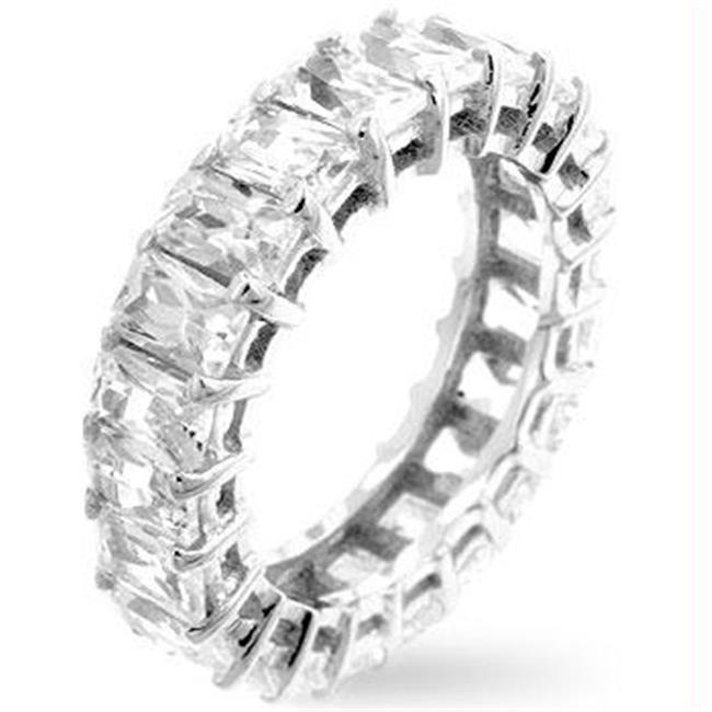 Emerald Cut Eternity Band, <b>Size :</b> 06