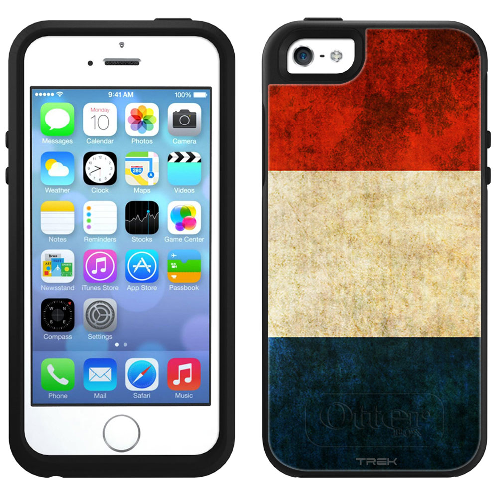 Skin Decal for OtterBox Symmetry Apple iPhone SE Case Vintage Dutch Flag by Trek Media Group