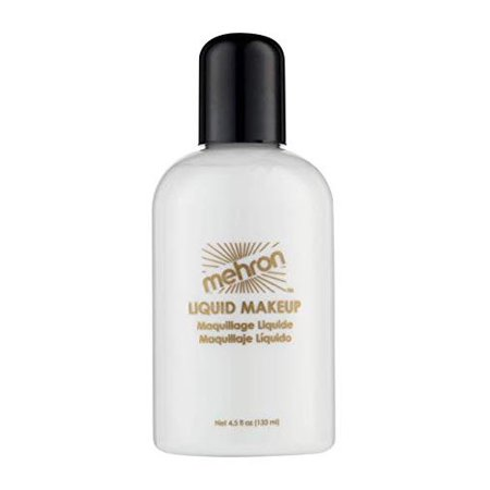 Mehron Makeup Liquid Face and Body Paint (4.5 oz) (WHITE)  (Halloween Face Paint Makeup)