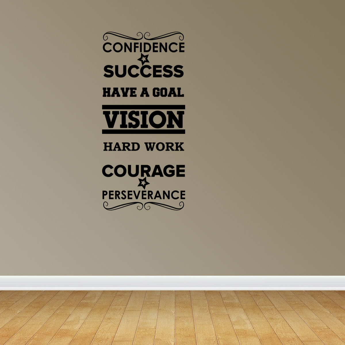 Success Word Collage Vinyl Wall Decals Inspirational Decal Office Decal JP63
