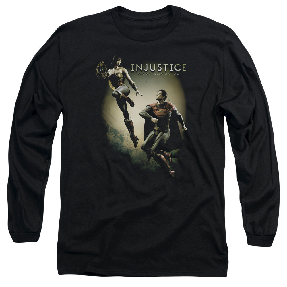 Injustice Gods Among Us Battle Of The Gods Mens Long Sleeve Shirt