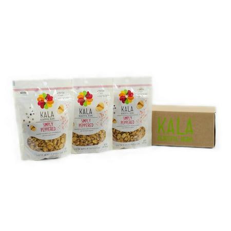 Kala Bean Snacks  Simply Peppered  5 Oz  3 Ct
