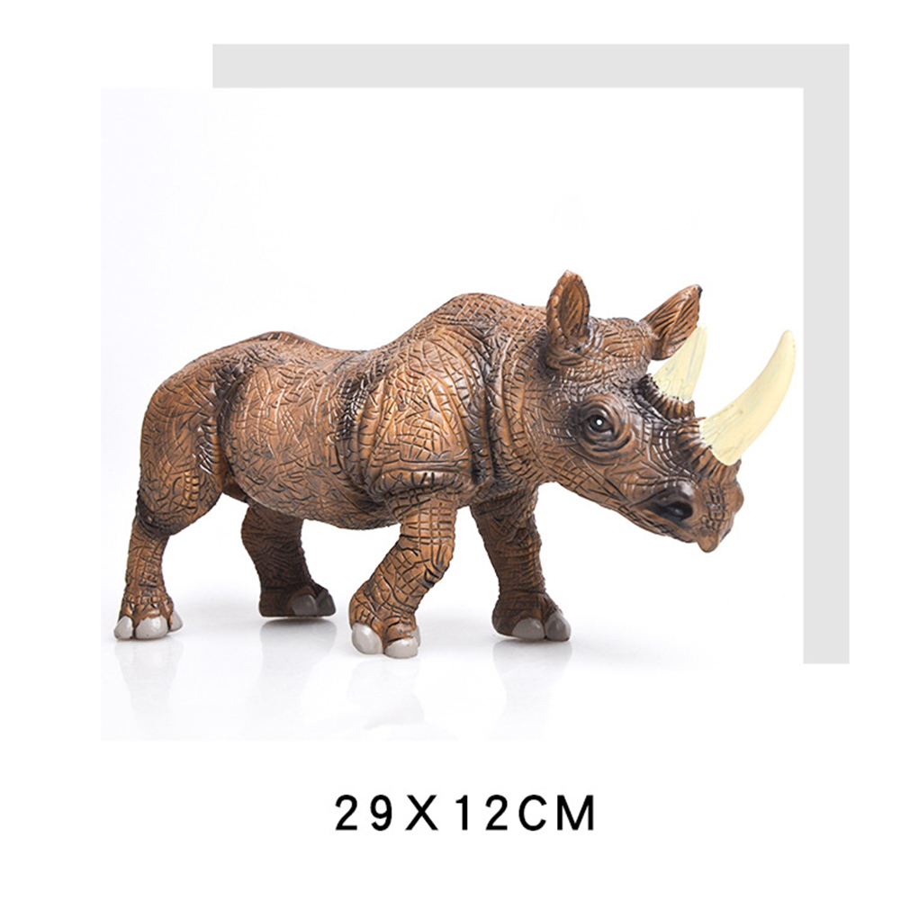 Kids High Simulation Animals Models Large Size Static Plastic Model Toys Gifts for Children Color:rhinoceros
