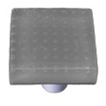 Hot Knobs HK1212-KA Bubbles Deco Gray Square Glass Cabinet Knob - Aluminum (Hot Knobs Handcrafted Spring)