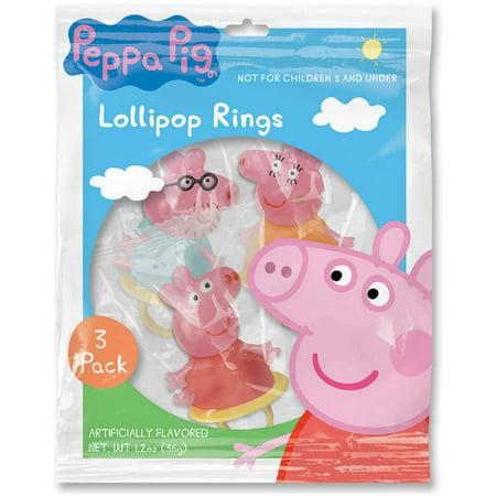 Peppa Pig Lollipop Rings, 3pk