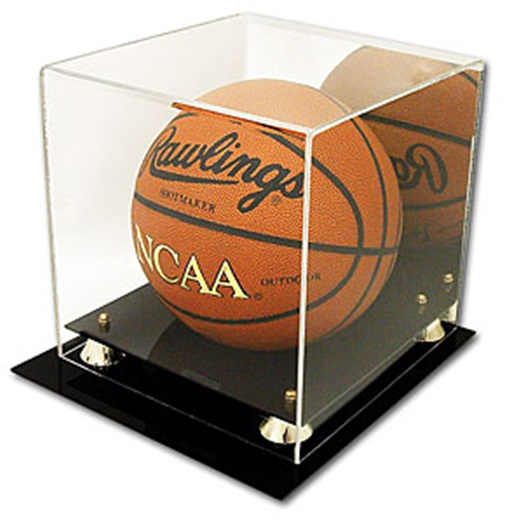 Deluxe CBG UV Protected Basketball Display Case w/ Mirror - Brand New